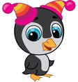 cute penguin in two hats vector image