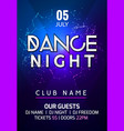 dance party poster background flyer night music vector image