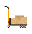 delivery boxes on truck in flat design vector image vector image
