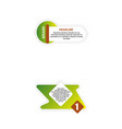 e-commerce banner set nice plastic cards in vector image vector image