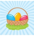 Easter beautiful card with two hand drawn eggs vector image