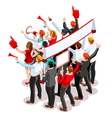 Election Infographic Theatre Crowd Isometric vector image vector image