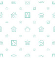estate icons pattern seamless white background vector image vector image