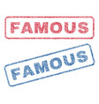 famous textile stamps vector image vector image