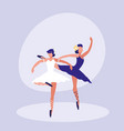 female dancers ballet isolated icon vector image