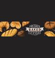 fresh bread poster vector image vector image