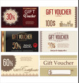 gift voucher template collection vector image