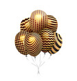 gold balloons isolated on white background vector image