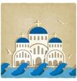 Greek Church near blue sea vector image
