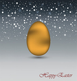 Happy Easter Background with a yellow Egg vector image