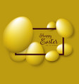 happy easter - minimalist pastel green easter card vector image