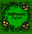 happy halloween festive poster vector image