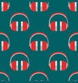headphones background hip hop seamless vector image vector image