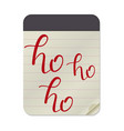 ho notebook template vector image vector image