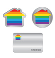 Home icon on the Rainbow flag vector image vector image