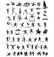 Icon design for many type of sports vector image vector image