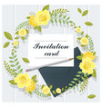 invitation card collection on wooden background vector image vector image