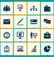 job icons set collection of presentation board vector image vector image