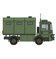 khaki military truck vector image vector image