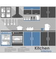 Kitchen Interior infographic design vector image vector image