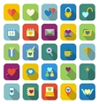 Love color icons with long shadow vector image vector image