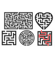 maze set vector image vector image