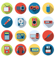 Modern electronic icons vector image vector image