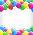 Multicolored inflatable air balls like frame vector image vector image