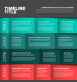 multipurpose infographic timeline table template vector image vector image