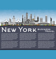 new york usa city skyline with color buildings vector image