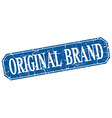 original brand blue square vintage grunge isolated vector image vector image