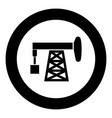 petroleum pump icon black color simple image vector image