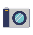 photo camera icon in colorful silhouette vector image vector image