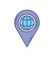 pin location navigation travel aviation transport vector image