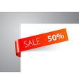 red paper tag vector image vector image