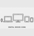 responsive web design icons vector image vector image