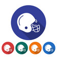 round icon of american football player helmet vector image