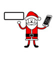 santa claus holding editable blank sign and vector image vector image