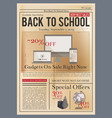 school brochure education training course old vector image vector image