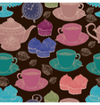 seamless tea background vector image vector image