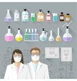 set - chemical designer Flat design vector image vector image