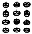Set of Halloween Pumpkins vector image vector image