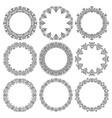 set round frames fancy floral pattern vector image vector image
