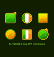 set square app frame for st patricks day vector image vector image