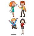 Simple sketch of the office workers vector image vector image