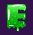 slime font type letter e latin alphabet green