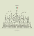 st marks basilica in venice italy vector image vector image