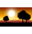 Sunset in nature vector image