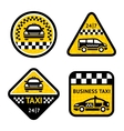 Taxi - set four stickers vector | Price: 1 Credit (USD $1)