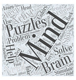Toys and Mind Puzzles Word Cloud Concept vector image vector image